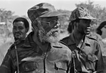 Andimba Toivo ya Toivo in military uniform