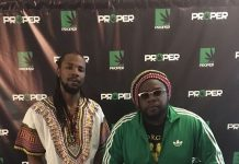 Proper Rx owner Elliott Marshall and Mojo Morgan of Grammy award-winning Morgan Heritage