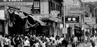 Detroit Rebellion July 1967 on 12th Street where the masses to control