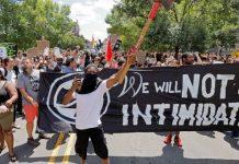 Durham anti-racist demonstration on August 18, 2017