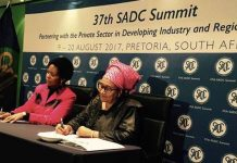 SADC Executive Secretary and South African Minister of International Cooperation