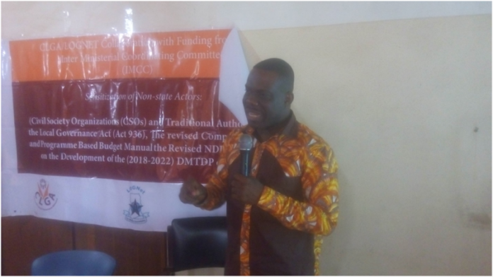 Dr Eric Oduro Osae, addressing stakeholders at workshop