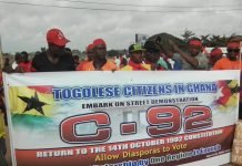Togoless in Ghana Demonstrate