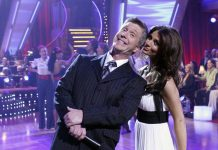 Samantha with her former co-host, Tom Bergeron. (Photo Credit: Getty Images)
