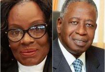 Ghana's Attorney General Gloria Akuffo, and Ivory Coast's Adviser to the President,Adama Toungara.