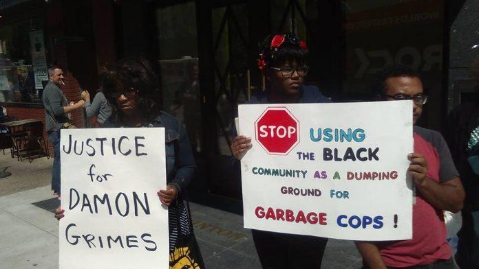Detroit Demonstration Against the Killing of Damon Grimes