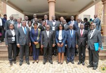 President AKufo-Addo with the leadership of the Ghana Bar Association