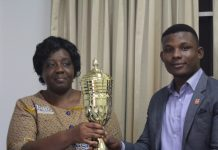 Dr Helen Ahulu , HOD Accounting with Frank Edem - President , DASA