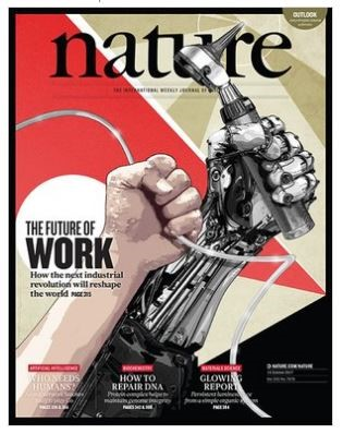 Cover of Nature published on Oct. 19, 2017.
