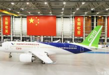 China's home-grown C919 large aircraft (Photo from Commercial Aircraft Corporation of China, Ltd.)