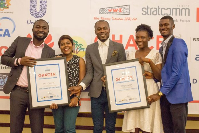 Tigo Ghana won CSR Award for Education and Partnership Initiative of the Year