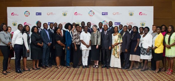 Guests from the public sector, private sector and civil society came together discuss how corporate social responsibility can drive the achievement of the Sustainable Development Goals.
