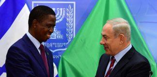 Zambian President Edgar Lungu meets with Israeli Prime Minister Benjamim Netanyahu