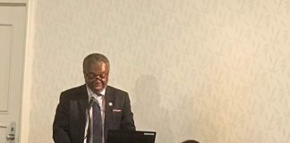 Dr. Anthony Nsiah-Asare Director General fo Ghana Health Service speaking at the 2017 UHC Forum in Tokyo Japan