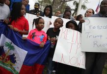 Haitians demonstrate against United States President Donald Trump's racist remarks