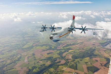 The AG600 flight (from AVIC, ltd)