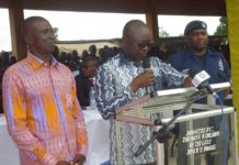 MR. Asomah-Cheremeh, BA Regional Minister delivering the inaugural address at Jinijini