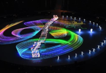 The Beijing eight-minute show at the closing ceremony of the 2018 PyeongChang Winter Olympics. (Photo: official website of Beijing organizing committee for the 2022 Winter Olympic Games)