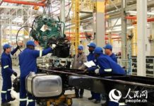 Chinese automaker FAW Group starts a plant in Coega of South Africa. (Photo by Zhang Jiexian from People's Daily Online)