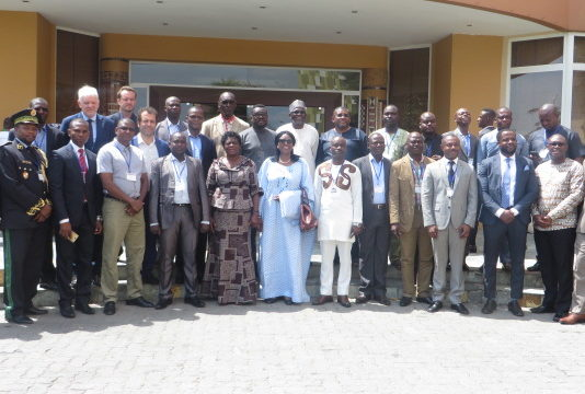 Participants at the workshop in a group photo with dignitaries