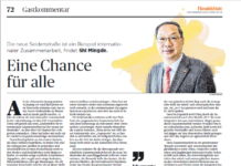 Chinese ambassador responds to German Belt and Road doubts