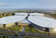 The National Exhibition and Convention Center (Shanghai), where the China International Import Expo is expected to be held. (Photo by National Exhibition and Convention Center (Shanghai))