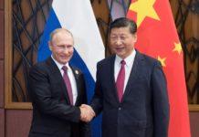 Chinese President Xi Jinping (R) meets with his Russian counterpart Vladimir Putin in Da Nang, Vietnam, Nov. 10, 2017. (Xinhua/Lan Hongguang)