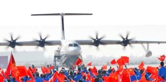 24 December 2017,World's largest amphibious plane, the AG600, made successful maiden flight in China (from:AVIC, ltd)