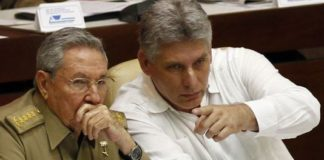 Cuban President Raul Castro, left, and Vice President Miguel Diaz-Canel attend the opening of a legislative session at the National Assembly in Havana, Cuba, on July 6, 2013. (Photo: Ismael Francisco, AP)