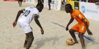 Beach soccer Ghana vs Ivory coast