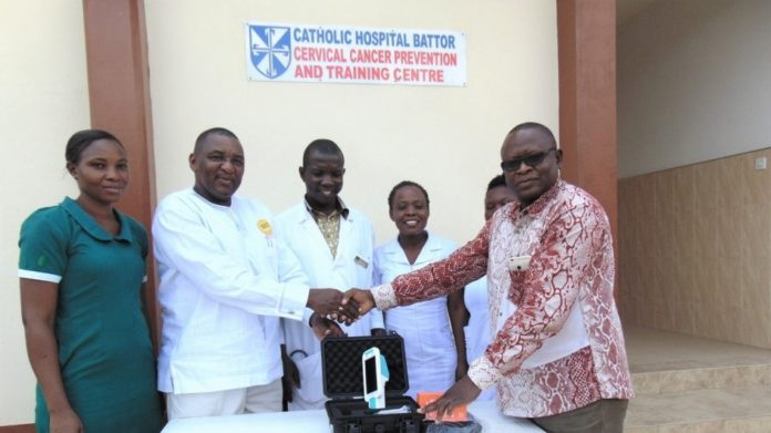 The Cervical Cancer Prevention and Training Center at the Catholic Hospital, Battor was opened in May, 2017