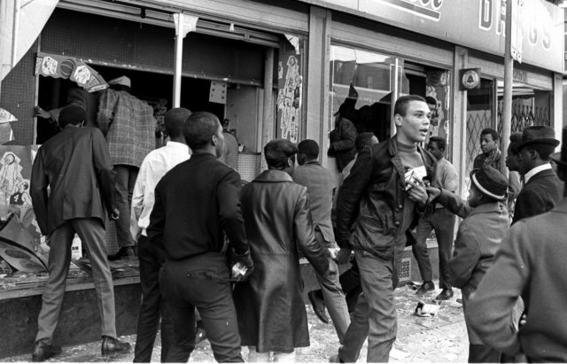 Chicago youth and workers rebellion after the assassination of MLK during April 1968