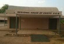 Photo showing front view of the Upper East Regional House of Chiefs with one of the newly constructed ramps