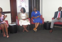Panellists from right to left: Mr Jonathan Ane, Mrs Georgette Sakyi-Addo, Mrs Shika Acolatse and Mrs Ovilia Donkor