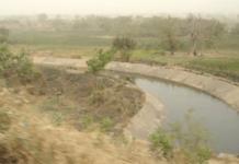 Tono Dam irrigation canal
