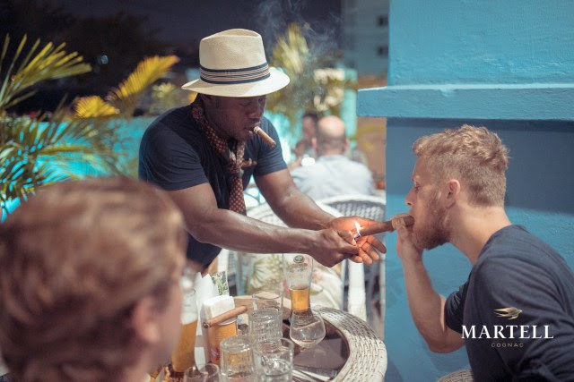 Joseph Baffour Diawuoh, Martell Ambassador for West Africa took guests through the history and heritage of Martell and how to pair and enjoy a perfect glass of Martell cognac with a selection of the finest Cuban cigars by Tobacconist and Cigar Aficionado, Kevin Norman, together with a wide range of Cuban inspired finger food platter.