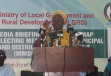 Hajia Alima Mahama delivering her address