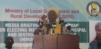 Hajia Alima Mahama delivering her address