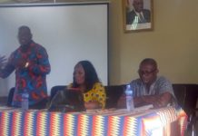 Mr. Augustine Collins Ntim addressing the workers