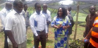 DCE with some farmers at the Assembly's nursery