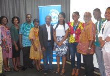 Prof Kwame Karikari (3rd right) in a group photo with participants at the workshop