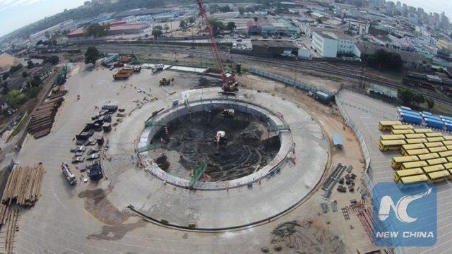 Construction site of Maputo-Catembe Bridge. (Photo provided by CRBC)