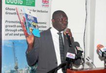 Mr Kwaku Kwarteng launching the 2015 GHEITI Report