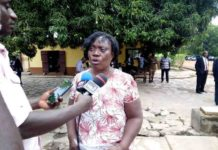 Mrs Edna Kumah Executive director of AWLA at the Justice For All Program at Akuse Local Prison