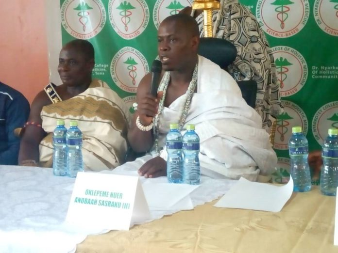 The Konor of Yilo Klo state, Oklepeme Nuer Anobaah Sasraku II at the event