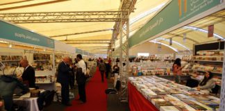 Thousands of books were on display at the 11th Palestine International Book Fair held at the newly established National Library. (WAFA Images / Hamza Shalash)