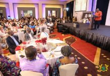 President Akufo-Addo speaking at the event
