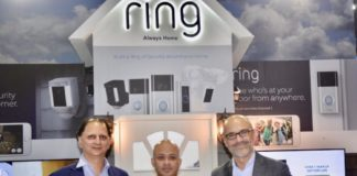 Rohit Gandotra, Senior Director Xcite by Alghanim, Mohammad Meraj Hoda, VP – Business Development at Ring and Fernando Vicente Lopez, VP of Electronics at Alghanim Industries