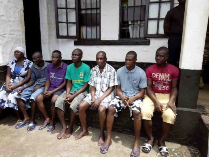 Some inmates of Akuse Local Prison discharged under the Justice for All Program.