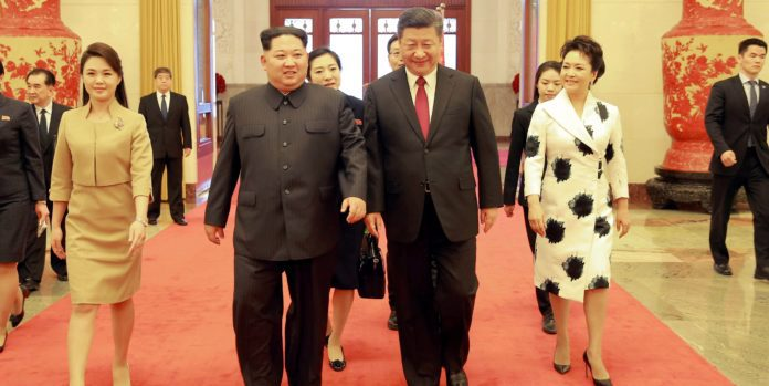 DPRK and Chinese leaders in Beijing during historic meeting in 2018